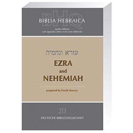 Biblica hebraica Quinta Ezar et Nehemie