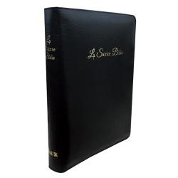 Bible Segond 1910 Car agrandi cuir noir ongl, glissière coffre