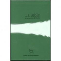 Bible Segond 21 Vie Nouvelle duoton vert souple avec boitier