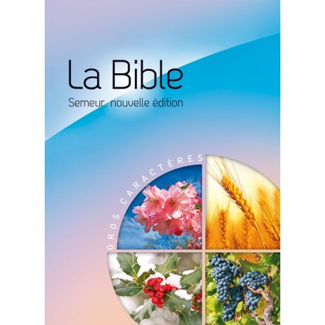 bible semeur 2015 gros caractère rigide bleu-rose illustrée