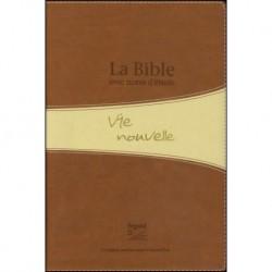 Bible Segond 21 Vie Nouvelle souple duo brun beige boitier