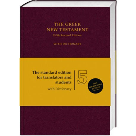 The Greek New Testament UBS 5 with dictionary