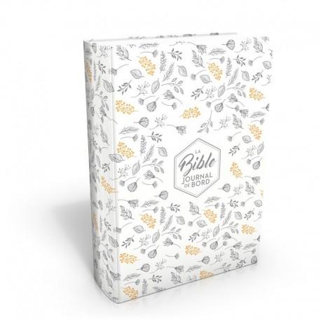 Bible Segond 21 Journal de bord (blanc et or)