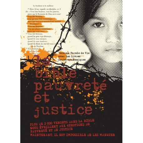 BIBLE PAROLE DE VIE: PAUVRETÉ ET JUSTICE - AVEC DC 1103