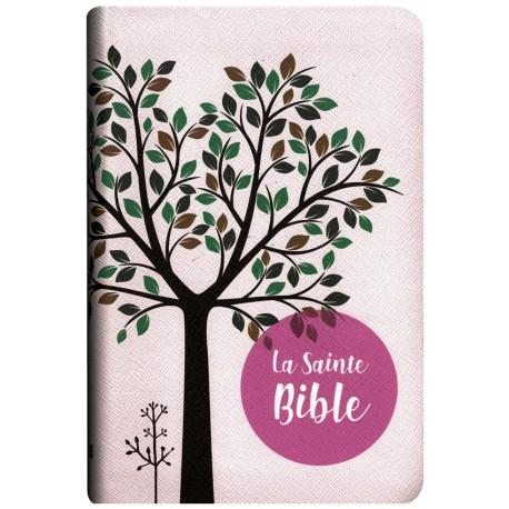 Bible Segond 1910 souple simili rose / Arbre tr.or