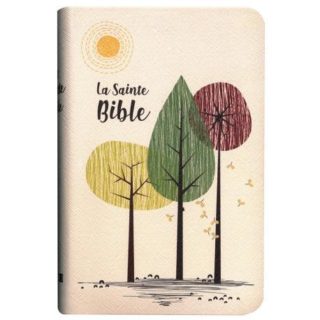 Bible Segond 1910 souple vinyl beige 3 Arbres tr.or