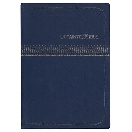 BIBLE SEGOND 1910 CAR AGRANDI ,VYNIL, BLEU 1062