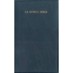 Bible Segond 1910 standard reliure souple vinyl bleu