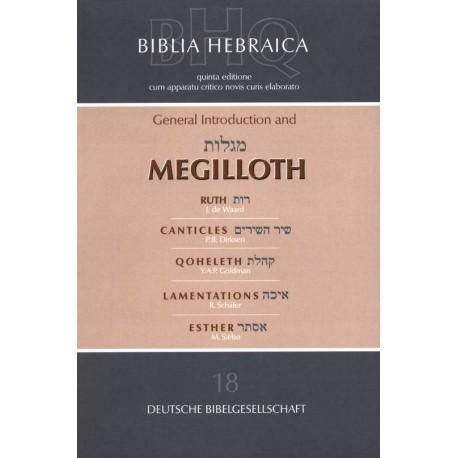 BIBLICA HEBRAICA QUINTA MEGILLOTH -4717