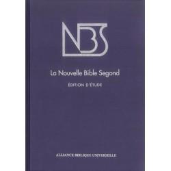 BIBLE NBS (NOUVELLE BIBLE SEGOND) ÉTUDE, RELIURE RIGIDE -1070